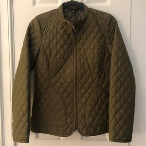 Banana Republic Olive Quilted Jacket